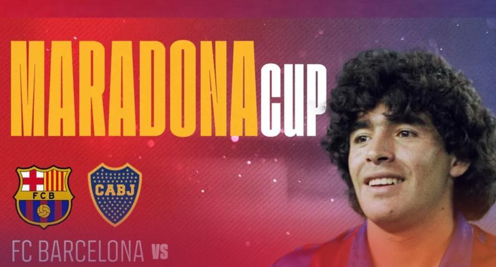 En honor al '10′: Barcelona anuncia duelo ante Boca Jrs. por la 'Maradona Cup'