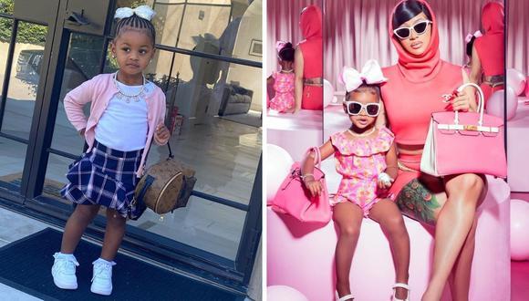 Cardi B decidió abrir una cuenta de Instagram a su hija Kulture Kiari de dos años. (Instagram: @iamcardib /@kulturekiari).