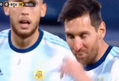 Lionel Messi y la llamativa interrogante de Lucas Ocampos previo a penal ante Ecuador [VIDEO]