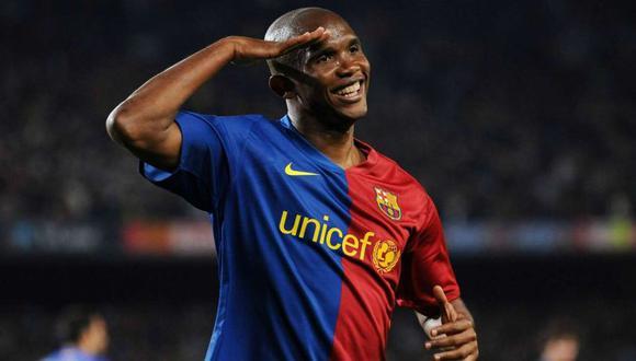 Samuel Eto'o alabó a Marcelo Gallardo y recordó a Lionel Messi. (Foto: AFP)