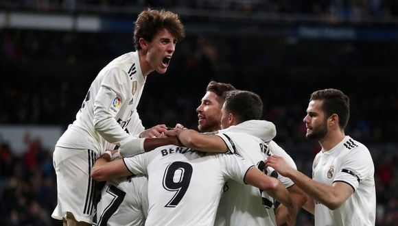 El cuadro madrileño se impuso a Leganés con anotaciones de Sergio Ramos, Lucas Vázquez y Vinicius Junior. Luego de un empate y derrota en Liga española, Real Madrid vuelve a sonreír. (Foto: Reuters)