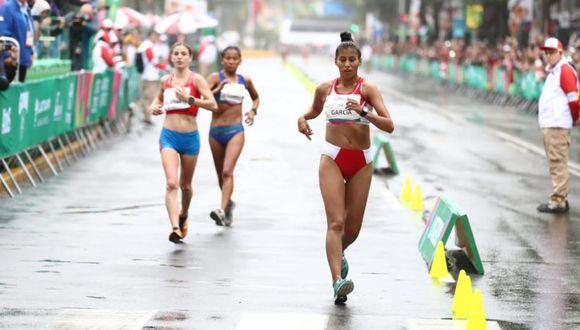 Kimberly García obtuvo la medalla de plata en Marcha Atlética. (Foto: Giancarlo Ávila)