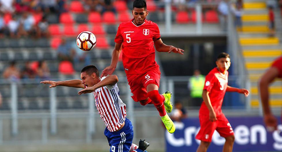 La Selección Peruana jugó contra Paraguay por el Sudamericano Sub 20 de Chile. (Foto: Photosport)