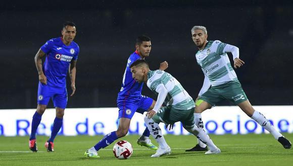 Cruz Azul y Santos Laguna chocaron por la Liga MX. (Foto: Agencias)