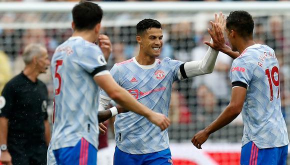 Manchester United venció al West Ham de visita con gol de Cristiano Ronaldo. (AFP)