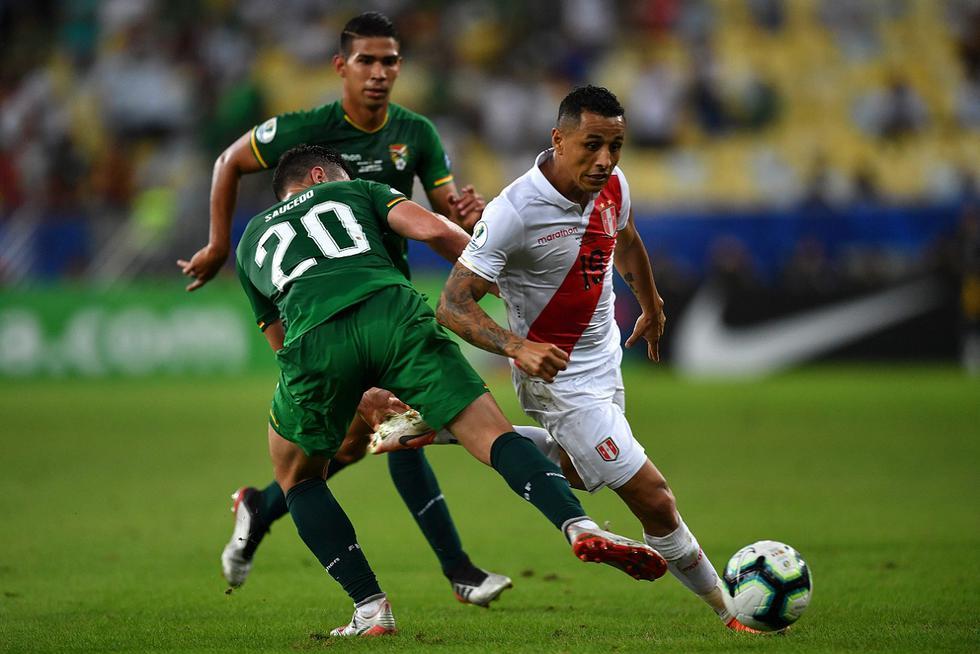 Nuestro último triunfo ante la selección boliviana lo conseguimos el 18 de junio del 2019, en un partido validó por la Copa América y el resultado fue 3–1 a favor de la bicolor con goles anotados por Paolo Guerrero, Jefferson Farfán y Edison Flores. (Foto AFP)