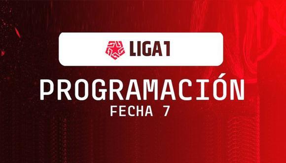 Programación de la fecha 7 de la Liga 1.