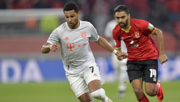 Serge Gnabry dio positivo al coronavirus y no jugará el Bayern-PSG. (Foto: EFE)