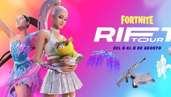 Compartimos el tráiler de Ariana Grande en Fortnite