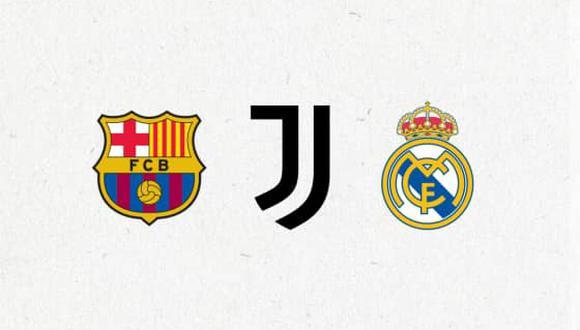 Barcelona, Juventus y Real Madrid siguen firmes con la creación de la Supercopa. (Foto: Twitter)