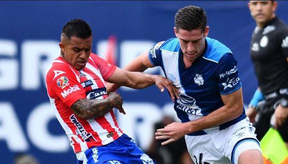 Santiago Ormeño marcó en triunfo de Puebla ante Chivas. (Twitter Santiago Ormeño)
