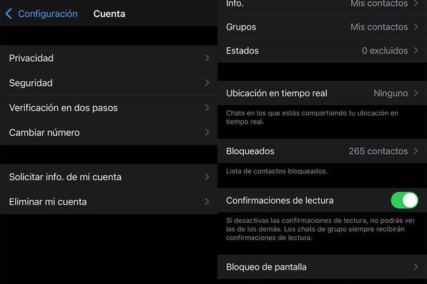 """In questo modo puoi disattivare un file """"Ho visto"""" delle tue chat WhatsApp.  (Foto: mag)"""