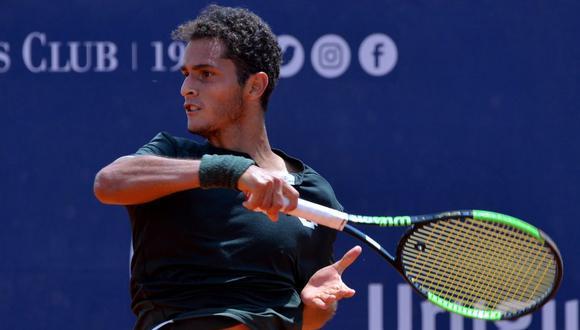 Juan Pablo Varillas perdió ante Carlos Alcaraz en su debut en el Challenger de Biella. (Foto: Tenis Al Máximo/UO)