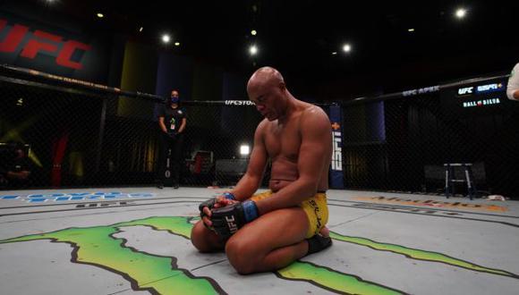 Anderson Silva perdió por nocaut técnico en su última pelea en UFC. (UFC)