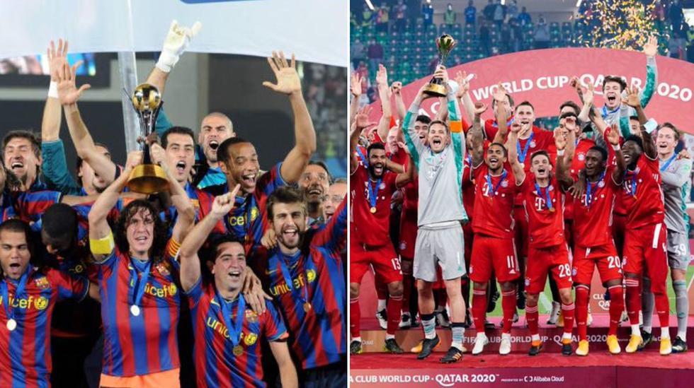 Barcelona 2009 vs. Bayern Munich 2021: así formarían en un partido por el desempate del sextete.