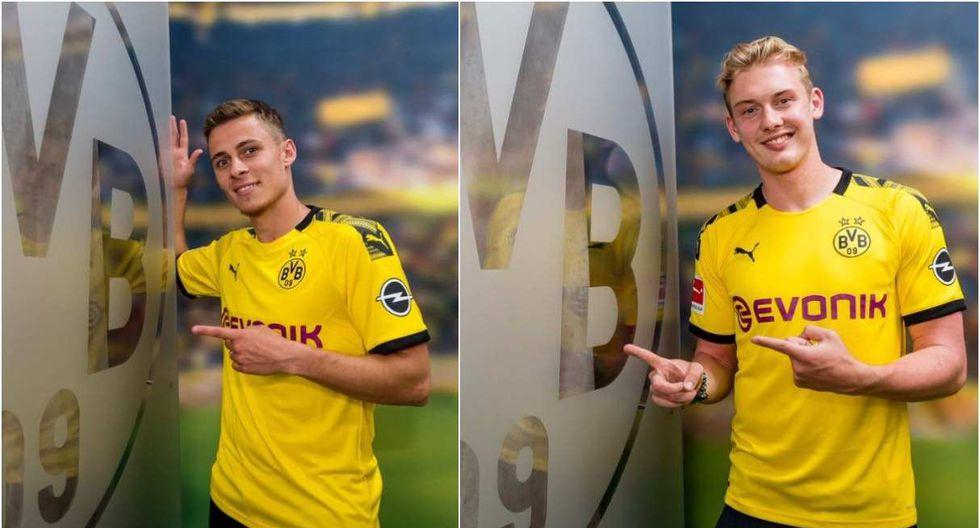 Thorgan Hazard y Julian Brandt confirmados por el Borussia Dortmund. (Foto: @BVB)