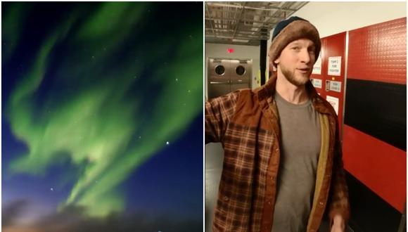El hombre que cuenta en TikTok cómo es vivir en el Polo Sur. (Foto: @JoeSpinsTheGlobe / TikTok)
