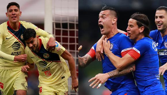 América vs. Cruz Azul: fecha, horarios y canales TV de la final de ida por Liguilla MX 2018. (Foto: Getty Images)