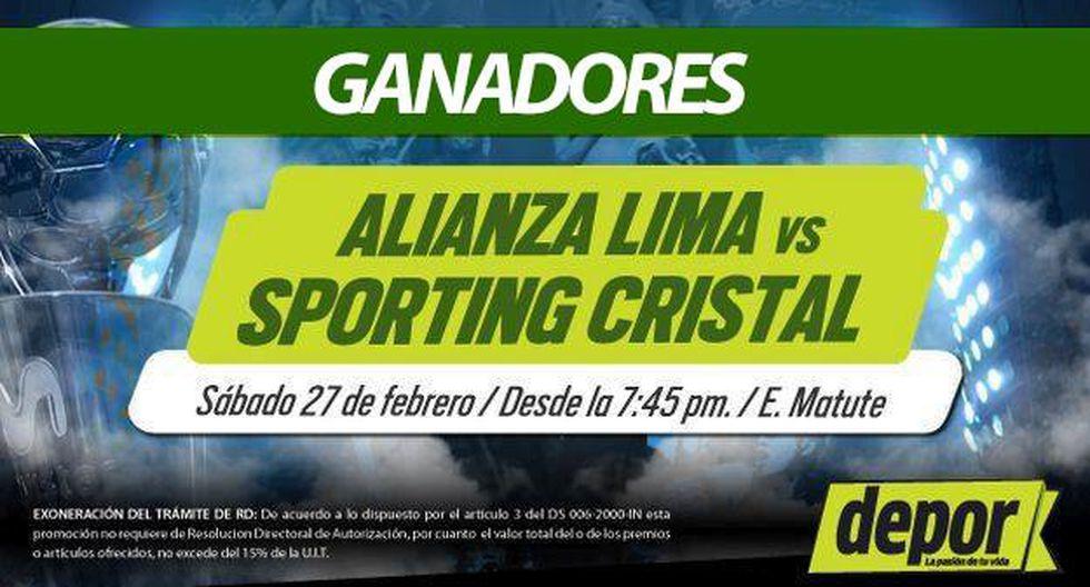 Alianza Lima vs. Sporting Cristal: lista de ganadores de entradas dobles