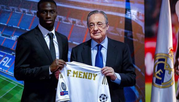 Ferland Mendy llegó al Real Madrid procedente del Lyon por 48 millones de euros (Foto: EFE)