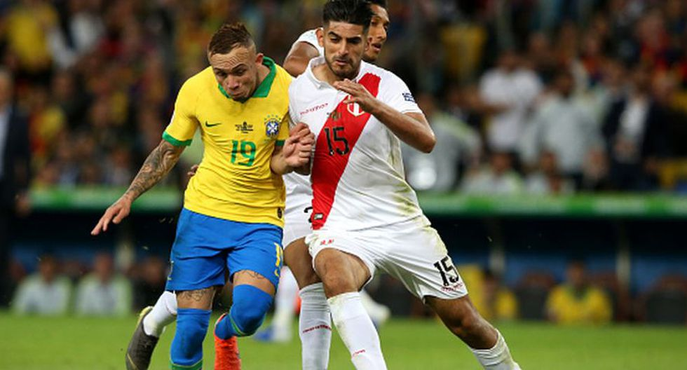 Roberto Tobar explicó penal cobrado a favor de Brasil en la final de la Copa América. (Foto: Getty IMages)