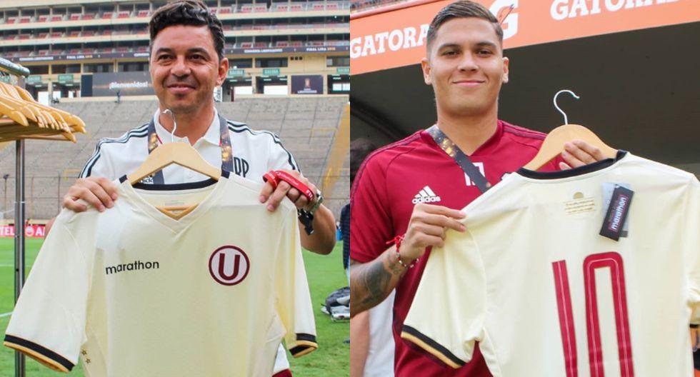 Gallardo y Quintero posaron con camiseta de Universitario. (Foto: Prensa 'U')