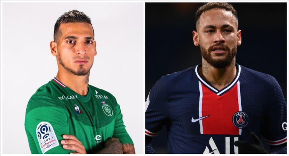 SofaScore diseño equipo ideal de la fecha 22 de la Ligue 1 e incluyó a Trauco y Neymar. (Foto: Saint-Étienne / AFP)