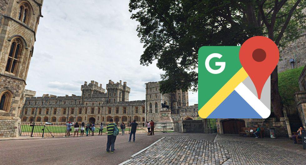 Google Maps guarda una serie de trucos dentro del mapa. Esto ocurre si buscas el castillo de Windsor. (Foto: Google)