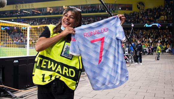 Marisa Nobile contó lo sucedido con Cristiano Ronaldo en el encuentro por el arranque de la Champions League. (Foto: Getty Images)