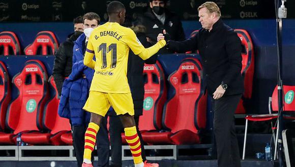 Ousmane Dembélé tiene contrato con el Barcelona hasta el 30 de junio de 2022. (Getty)