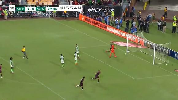 Jonathan Dos Santos goal in Mexico.  Nigeria for international friendship.  (Video: TUDN)