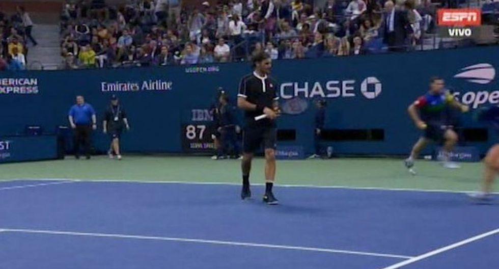 Roger Federer se llevó el segundo set. (Foto: ESPN)