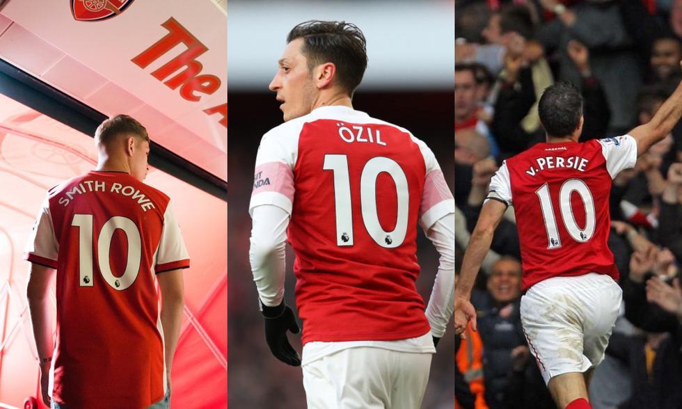 Smith-Rowe se sumará a una selecta lista de futbolistas que portaron la '10' del Arsenal. (Fotos: Agencias)