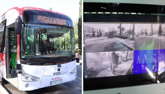 Este es el bus que ya circula por Málaga. Llevará hasta 60 pasajeros y hará una ruta de 8 kilómetros. (Foto: Ayuntamiento de Málaga | YouTube)