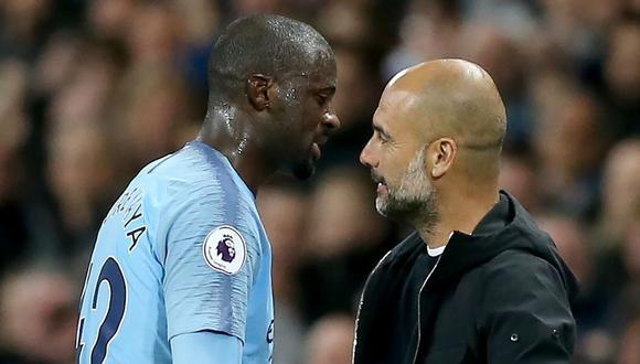 Touré critico la temporada de Guardiola al mando del Manchester City.