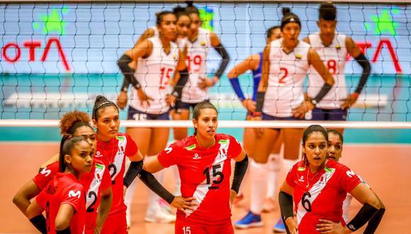 Perú cayó ante Colombia por 3-0 en su segundo partido en el Preolímpico Sudamericano. (FIVB)