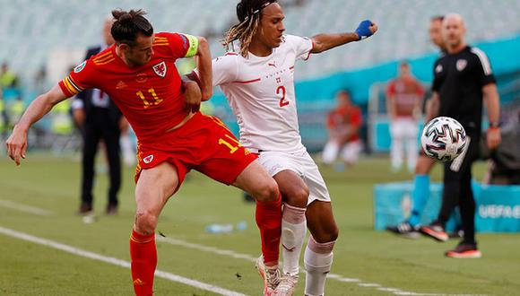 Gales y Suiza empataron a un gol en Bakú por el Grupo A de la Eurocopa. (Getty)