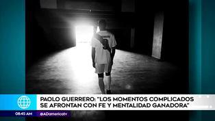 Así fue el mensaje de Paolo Guerrero tras su lesión