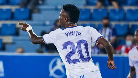 Vinicius Juniors lleva 5 goles con el Real Madrid en LaLiga Santander 2021-22. (Foto: Getty)