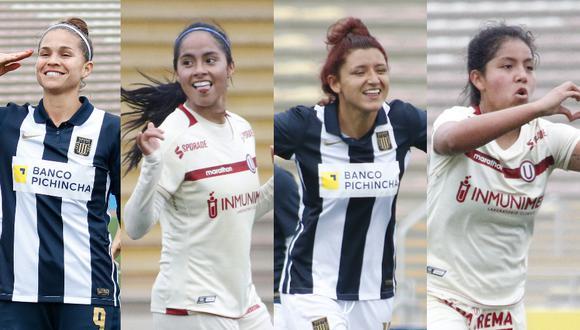 Universitario y Alianza Lima ocupan el primer y segundo lugar de la Liga Femenina, respectivamente. (Foto: FPF)