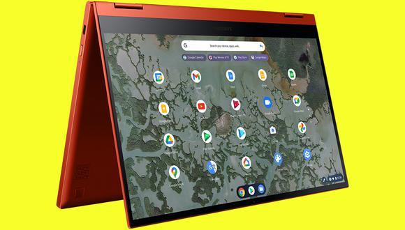 La nueva Samsung Galaxy Chromebook 2 se puede convertir tanto en una laptop como tablet. (Foto: Samsung)