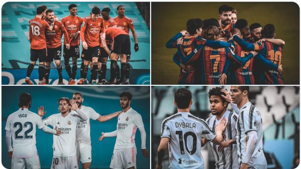 Superliga Europea, clubes participantes: estos son los 12 rebeldes que quieren dejar la UEFA Champions League | FOTOS | FUTBOL-INTERNACIONAL | DEPOR