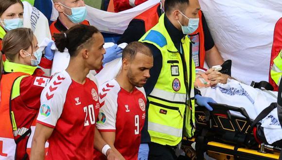 Martin Braithwaite fue titular en el Dinamarca vs. Finlandia por Eurocopa 2021. (Foto: AFP)