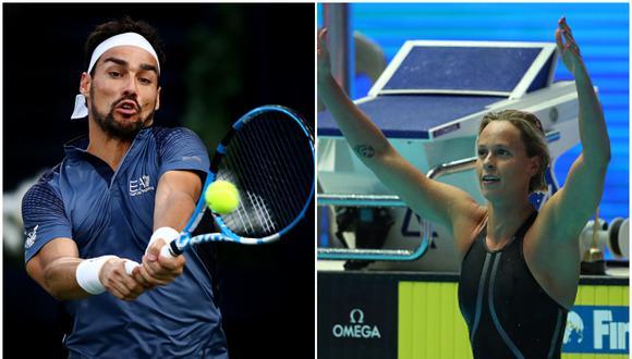 Fabio Fognini y Federica Pellegrini. (Foto: Getty Images)
