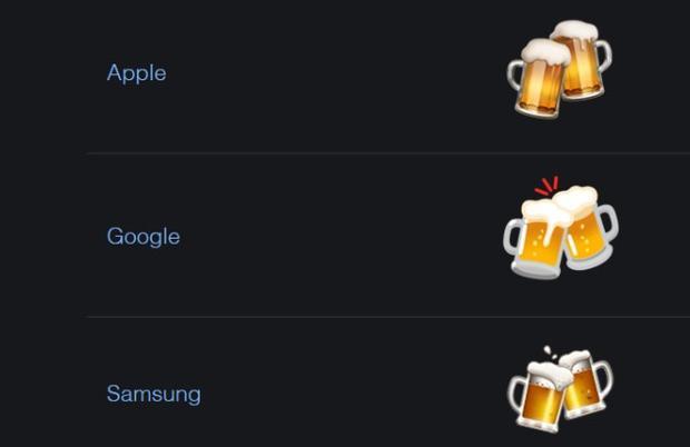 Il design delle icone varia a seconda del sistema operativo, del dispositivo mobile o del social network (Immagine: Emojipedia)