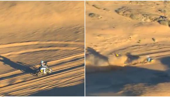 Adrien Van Beveren estaba en el puesto 13 de la general de motos antes de abandonar el Dakar. (Dakar)