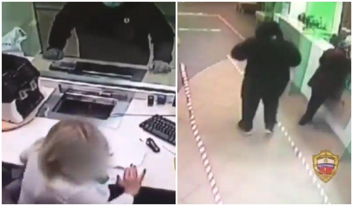 La cajera se negó a entregarle el dinero al ladrón. (Imagen: Twitter de @_U_R_I_c)