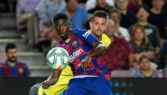 Ousmane Dembélé llegó al Barcelona en 2017 desde el Borussia Dortmund. (LLUIS GENE / AFP)