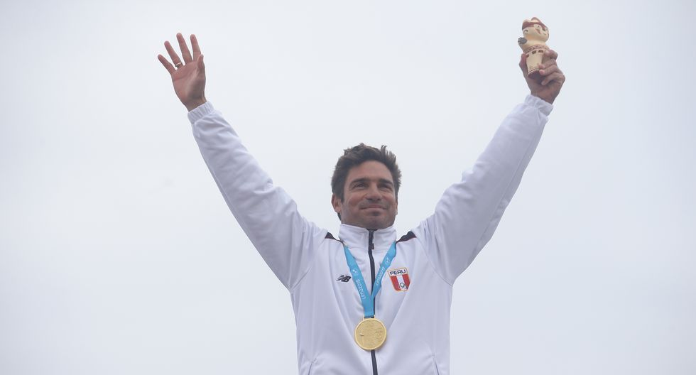 Benoit 'Piccolo' Clemente: Medalla de oro en surf-Longboard masculino. (Foto: Jesus Saucedo / GEC)