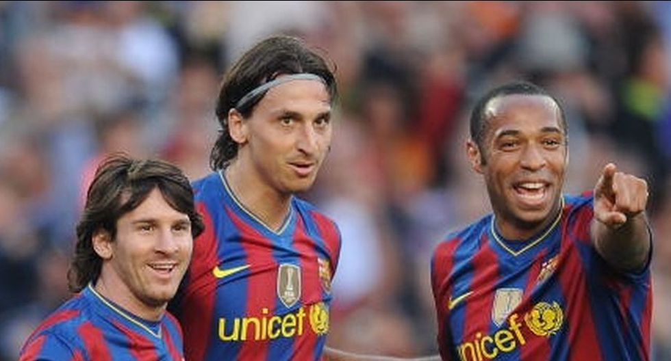 Henry, Zlatan y Messi jugaron juntos en la temporada 2009/2010. (Getty images)